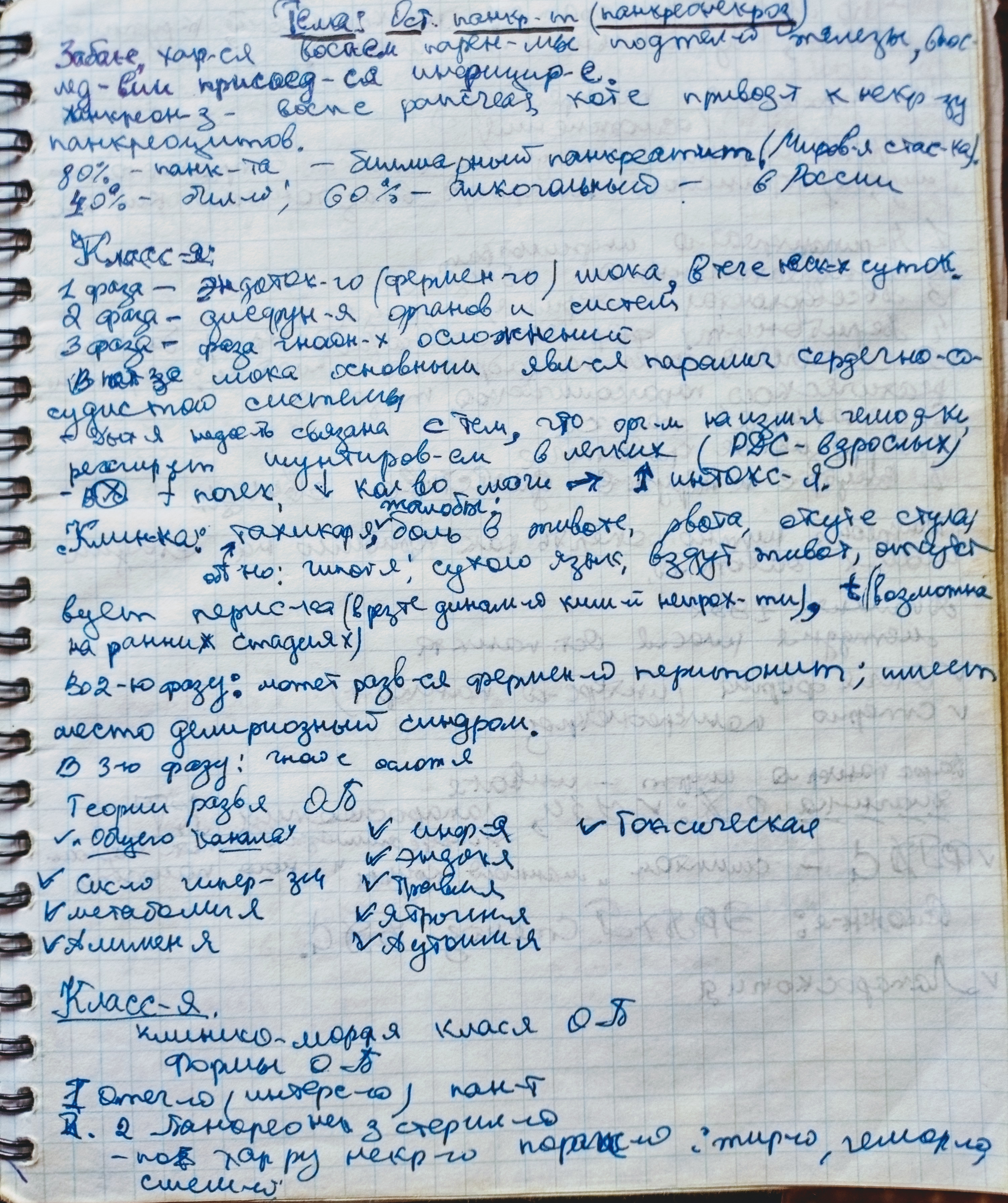 Лекция - острый панкреонекроз, причины, классификация